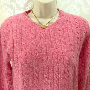 J. Crew Pink Lambswool Crewneck Sweater