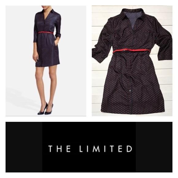 The Limited Dresses & Skirts - 🔴Polka Dot Shirtdress