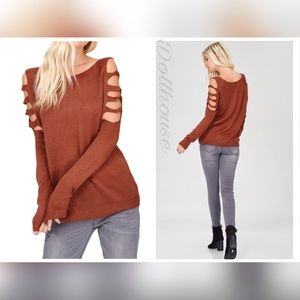 Tops - ✈️Coming Soon! Long Sleeve Cutout Sweater Top
