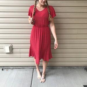 VINTAGE Polka Dot 2 Piece Skirt and Top