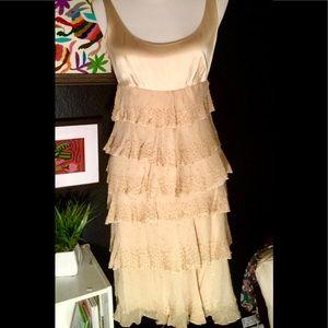Diane von Furstenberg silk ivory formal tank dress