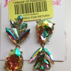 Betsey Johnson Amber Reflective Earrings