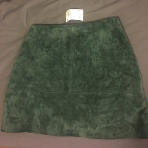 H&M suede skirt size 6