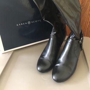 Karen Scott Wide Calf tall black boots