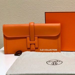 NIB Authentic X 2016 Hermes Jige Elan Clutch