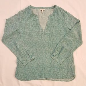 Joie Marsher textural green print blouse M