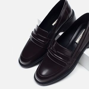 Zara Basic Brown Loafers