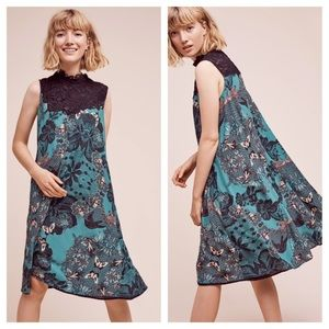 Anthropologie Maeve butterfly lace swing dress