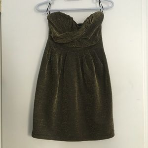 H&M black and gold dress