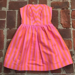 Pink and orange Lilly Pulitzer dress.