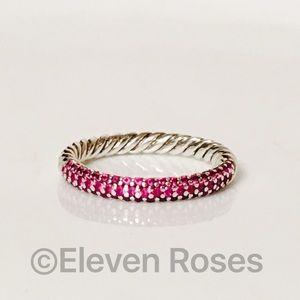 David Yurman Petite Pave Pink Sapphire Ring