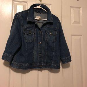 3/4 sleeve Loft denim jacket size xl
