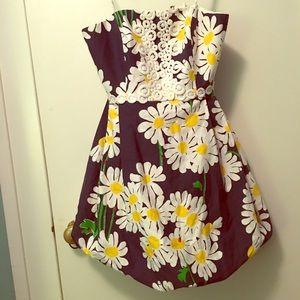 Lilly Pulitzer strapless daisy sundress
