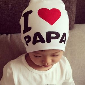 Other - I ❤️ PAPA Baby Beanie Love