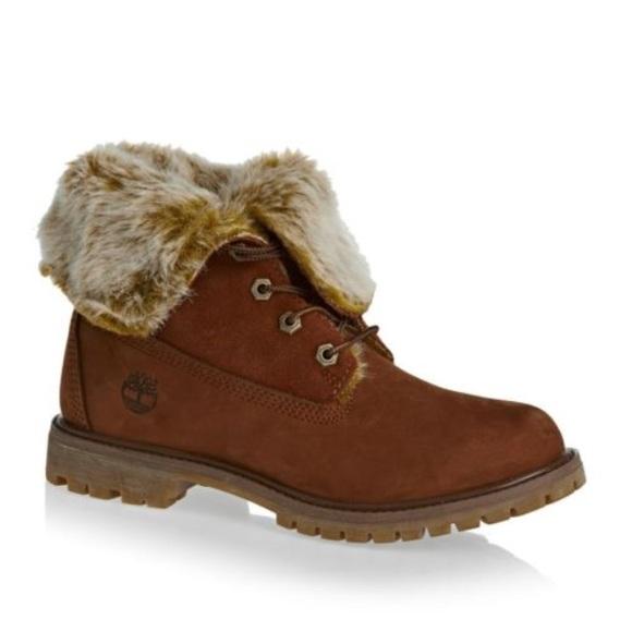 786705208e0 Timberland Shoes   Teddy Fleece Fold Down Waterproof Boot   Poshmark