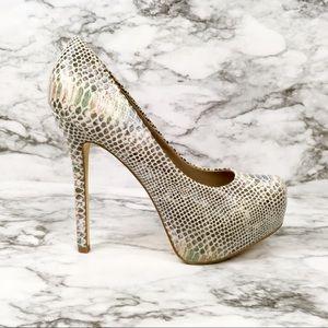 Steve Madden Nala snakeskin print mermaid heels
