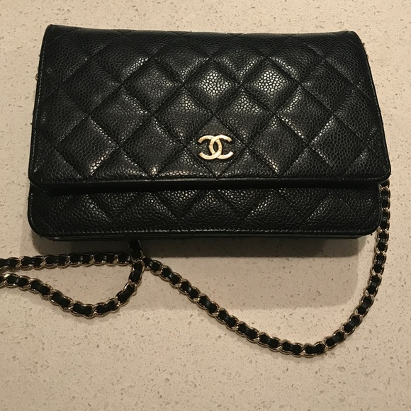 b0ea663ef379 CHANEL Handbags - AUTHENTIC Black CHANEL Wallet On Chain.