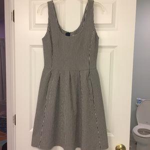 Banana Republic Sleeveless Dress - Blue + White