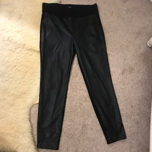 NWOT Loft Faux Leather Ankle Pants