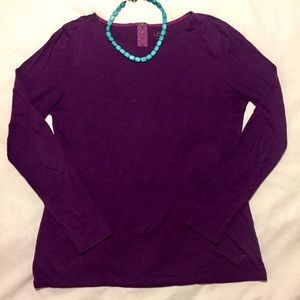 Soft Eggplant LOFT Long-Sleeve Top