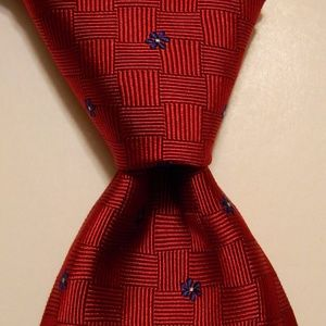 346 BROOKS BROTHERS Silk Necktie FLORAL Red EUC