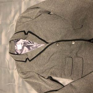GAP the Academy Blazer Gray with black trim.