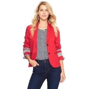 GAP Academy Blazer in Bright Red with Gray Stripes