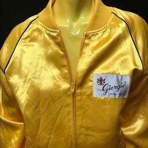 •✔️💛 VTG 70s 80s Yellow Satin Bomber 💛✔️•