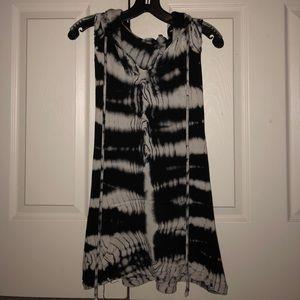 Tye-Dye Hooded Tank Top Sweater