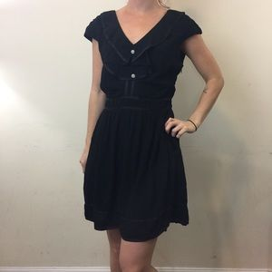 Elevenses Black Satin Trim Romper