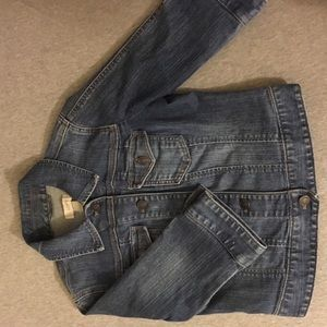 Cropped LOFT denim jacket