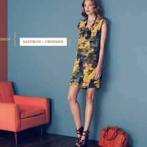 Anthropologie Pixel Impressionist Shift Dress