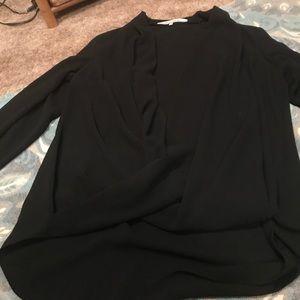 Rachel Roy drop front black blouse ✨