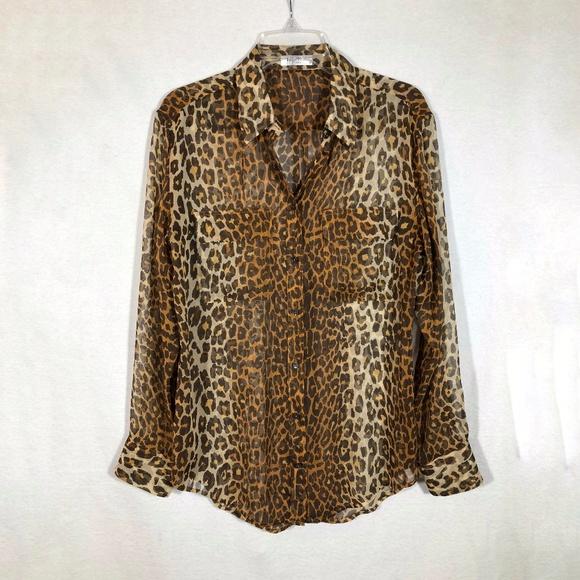 d05e57dba7b152 Equipment Femme Tops - Equipment Femme Leopard Print Silk Shirt