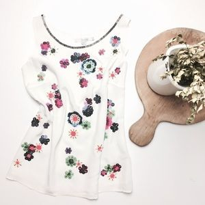 🆕Listing! Boden Floral beaded blouse