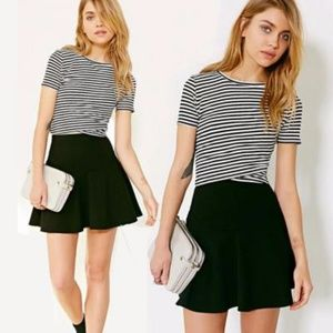 Silence + Noise Black and White Wrap Crop Top
