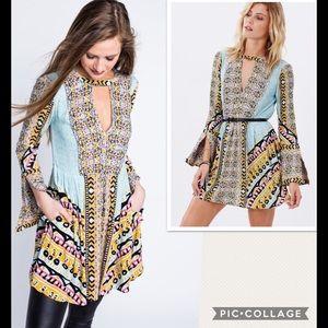 NEW Free People Tegan Border Printed Tunic Dress
