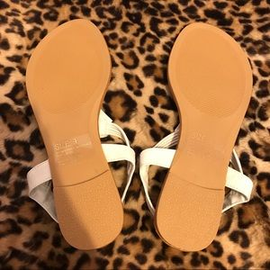 9cf6c5c3378990 Mixit Shoes - NWOT Mixit white jeweled sandals size 9