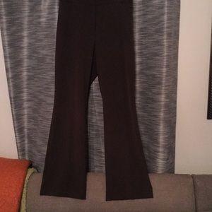 Brown curvy fit boot leg dress pants