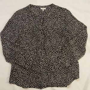 Joie heart print blouse M