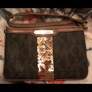 Cute MK Wrislet with gold sequins