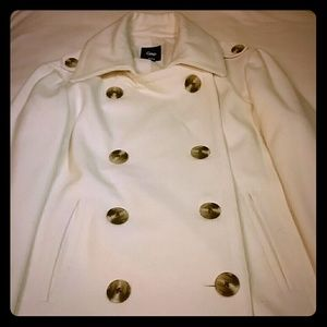 White pea coat from Gap