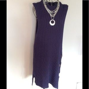 Navy sweater dress -NWT
