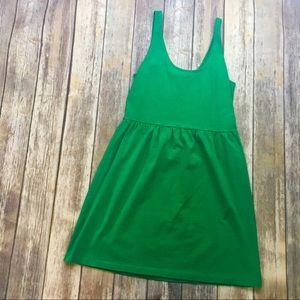 🎈 J. Crew Green Villa Shift Sun Dress Size Large