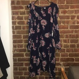 NWT: Floral Dress with Cut-out arms