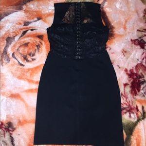 Bebe black pin hooks lace dress size xs