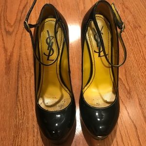 Authentic YSL patent leather tribute Mary Janes