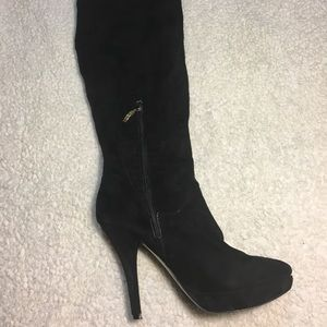Guess Black Suede Boots Over The Knee size 8