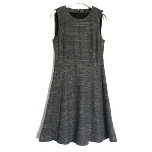 Madewell black white wool blend dress 4