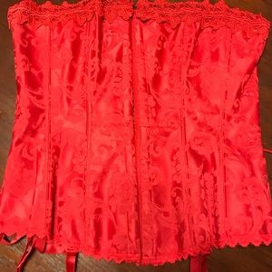 Fredericks of Hollywood Red corset